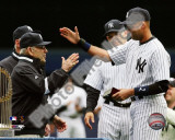 Yogi Berra, Derek Jeter, & Joe Girardi 2010 Yankees World Series Ring Ceremony Photo