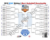 Duke University Blue Devils NCAA 2010 Nationals Championship Bracket Photo