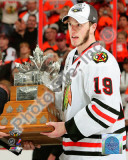 Jonathan Toews with the 2010 Conn Smythe Trophy Photo