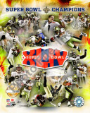 New Orleans Saints Super Bowl XLIV Champions PF Gold Photo