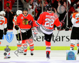 Troy Brouwer &amp; Marian Hossa Goal Game One of the 2010 NHL Stanley Cup Finals Photographie