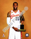 LeBron James with the 2009-10 MVP Trophy Photo