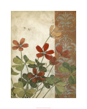 Red Antique Floral I Limited Edition by Megan Meagher