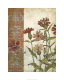 Red Antique Floral II Limited Edition by Megan Meagher