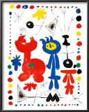 Personnage et Oiseaux Art by Joan Miró