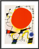 The Red Sun Prints by Joan Mir&#243;