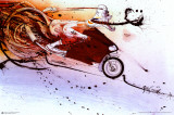 Hunter on Ducati Poster by Ralph Steadman