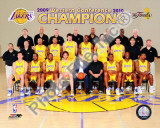 2009-10 Los Angeles Lakers Team with Western Conference Champions Photo
