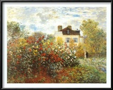 The Artist's Garden in Argenteuil Poster by Claude Monet