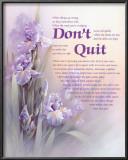 Don't Quit Prints by T. C. Chiu