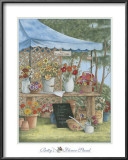 Betty's Flower Stand Print by Kay Lamb Shannon