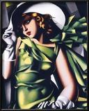 Jeune Fille Vert Posters by Tamara de Lempicka