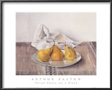 Three Pears on a Plate Posters by Arthur Easton