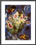 Still Life with Flowers Prints by Marc Chagall
