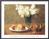 Heritage, Still Life with Peaches Posters by Henri Fantin-Latour