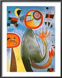 Echelles en Roue de Feu Traversant Posters by Joan Miró