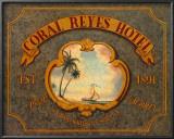 Coral Reyes Hotel Prints by Catherine Jones
