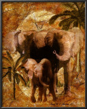Jungle Elephants Poster by Jonnie Chardonn