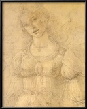 Drawing of a Woman Posters by Sandro Botticelli
