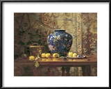 Oriental Vase with Crab Apples Prints by Del Gish