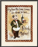 Drink Wine! Prints by Jerianne Van Dijk