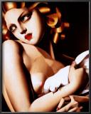 Femme a Colombe Prints by Tamara de Lempicka