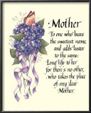 My Dear Mother Posters by  Tribou