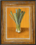 Leeks on Gold Posters by Lanie Loreth