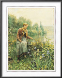 Girl Fishing Poster by Daniel Ridgway Knight