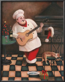 Christmas Chef I Print by T. C. Chiu