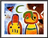 L'Oiseau au Plumage Deploye Poster by Joan Miró