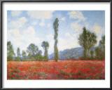 Campo de papoulas Arte por Claude Monet