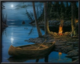 Camp Fire Canoe Posters by Ervin Molnar