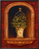 Olive Topiary Niches II Poster by Pamela Gladding