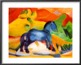 Little Blue Horse Posters by Franz Marc