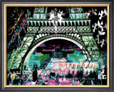 Paris by Night Print by  Kaly