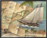 West Indies Schooner Posters by Ron Jenkins