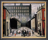 Street Scene Art by Laurence Stephen Lowry