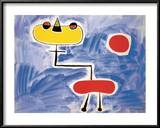 Figur Vor Roter Sonne Posters by Joan Miró