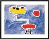 Figur Vor Roter Sonne Posters by Joan Miró