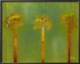 Three Palms II Print by Patricia Quintero-Pinto