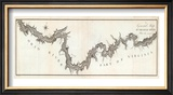 General Map of the River Ohio, Plate 2, c.1796 Framed Giclee Print by George Henri Victor Collot