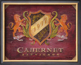 Cabernet Label Poster by Angela Staehling