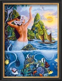Wahine from the Sea Framed Giclee Print by Warren Rapozo