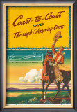Pennsylvania Railroad, Coast to Coast Daily, c.1940's Framed Giclee Print by Milton Menasco