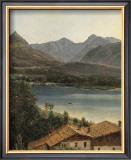Wolfgangsee, Lake Wolfgang in the Salzkammergut Poster by Ferdinand Georg Waldmueller