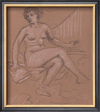 Sitting Nude Study Prints by Eric Young