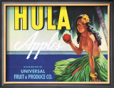 Hula Apples Framed Giclee Print