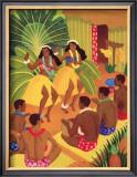 Hula Halau Framed Giclee Print