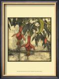 Mini Fuchsia and Silhouette III Posters by Jennifer Goldberger